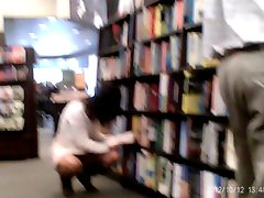 Trina flashing panties at Barnes and Noble