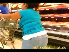 Buxom Bum in Jeans & Shorts - Public Creeper
