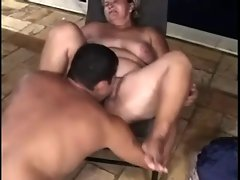 Two fatty caresses and bangs with different man