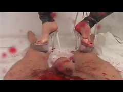 Marlinda Branco BLOODY TRAMPLING FEET JOB