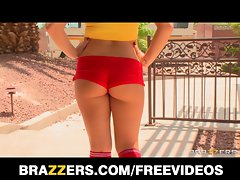 Brazzers - Filthy randy saucy teen is gangbanged by her dad's friends