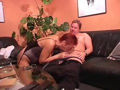 Experienced dirty wife in lingerie banged by hubby