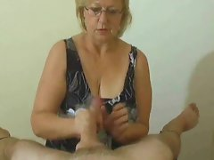 Lusty handjob compilation with big cumshot