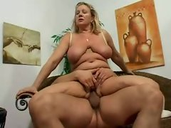 Curvy and sensual light-haired attractive mature screwed lustily