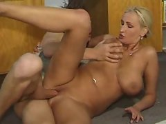 Blond cougar wench and thick 18yo prick