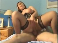 Watch a plumper corseted pornstar go anus