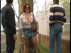 French mum grinded outdoors by two fellows