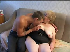 Heavy granny shagged by rampant 18 years old man