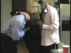 Black lads nail a solid blondie dirty wife