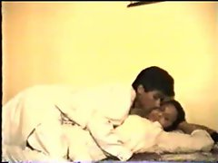 Sensual indian couple fooling around in the bed