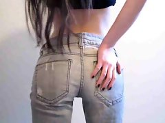 Barely legal teen webcam cutie in her tense jeans