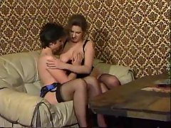 Experienced with very hairy box in pinkish lingerie shagged