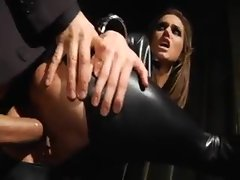 Tori Black in leather catsuit banging brutal