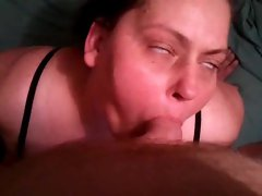 Playing with his plumper ugly slutty wife in lingerie