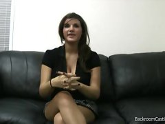 Comely young woman does casting couch explicit