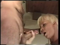 Cheating wife tempting blonde banged in her filthy quim