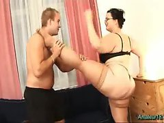 Plumper flexible slutty girl screwed