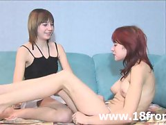 European barely legal lesbos making love