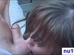 Cool sensual barely legal teen getting face banged
