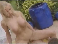 Poolside fuck with a excellent tempting blonde bimbo