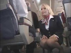 Stewardess shagged on her plane so brutal