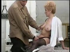 Slutty mom with bushy twat gets 19yo meat