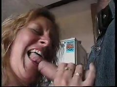 Sensual English married woman entertains two men