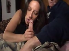 Curvy slutty mom banged in her quim from behind
