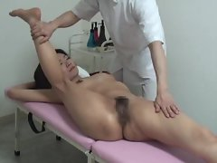 Jap cutie is massaged in the naked