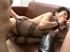Solid in boots and stockings accepts two