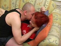 Sultry redhead is Sensual russian and banging rough