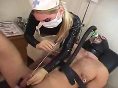 Fetish nurse abusing a patient