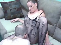 Body stocking girlie has filthy horny sex