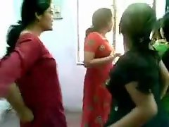 Sensual indian slutty chicks in dresses dance it up