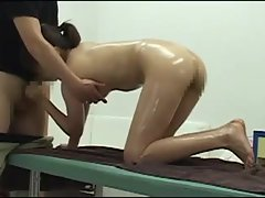 Attractive Jap massage lassie grinded rough
