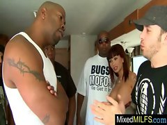 Filthy Filthy bitch Get Rough Sex With Black Huge shaft clip-13