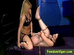 Tempting blonde face sitting domina
