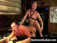 Muff diver Butthole Bashing in the Back Room gay porno