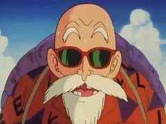 Bulma meets the master Roshi and demonstrates her snatch
