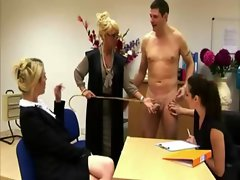 CFNM office vixens rule over his stiff pecker