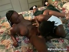 Too attractive lustful ebony star licks extremely large dick