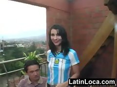 Latina Marianna Delgado from Argentina gets banged and gets a facial