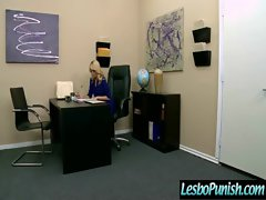 Attractive Sensual Lesbos Punished With Rubber toys clip-26