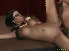 Watch the buxom tramp stamp cutie banged lustily