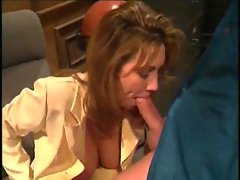 Mummy on her knees performing oral sex