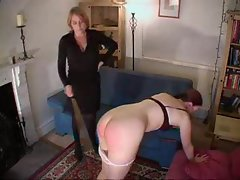 Making her backside red with a spanking