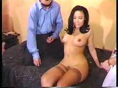 Attractive girlie ends up in a gangbang