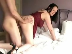 Sensual Girlfriend in lingerie wants a creampie from behind