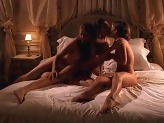 Erotic lesbo crazy threesome action filmed by a fellow