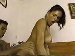 Transsexual cocksucker bends over for him